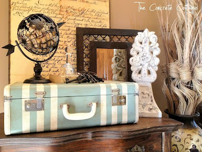 Painted Suitcase Vignette