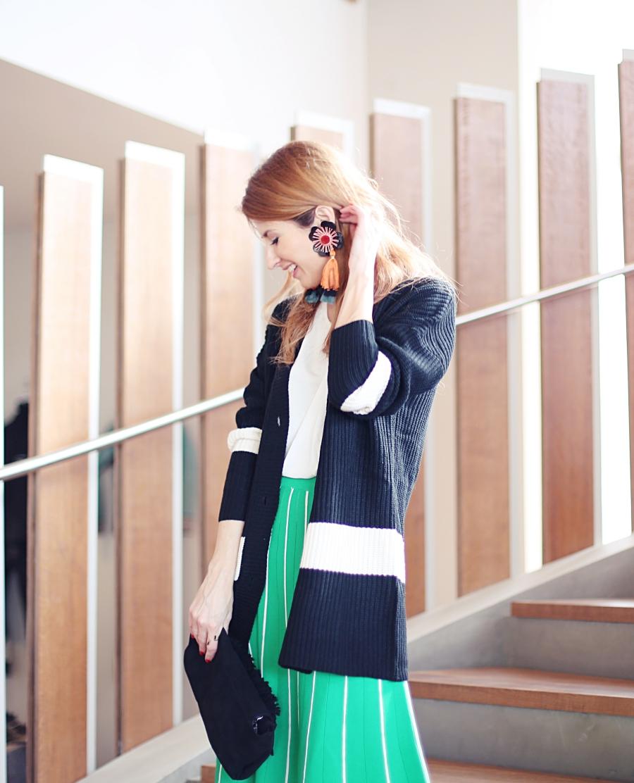 Blog Lifestyle Moda Pendientes Maxi De Falda Midi Y Chaqueta gRgvqrw