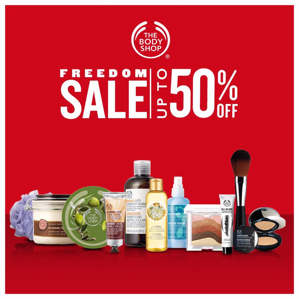 Manila Shopper: The Body Shop One-Day Freedom SALE: June 12 2015