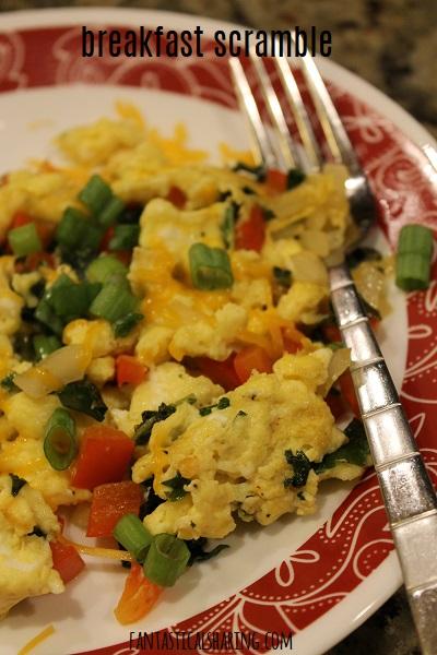 Breakfast Scramble #recipe #breakfast #meatless #eggs #scramble