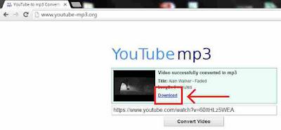 MP3 sukses dikonversi