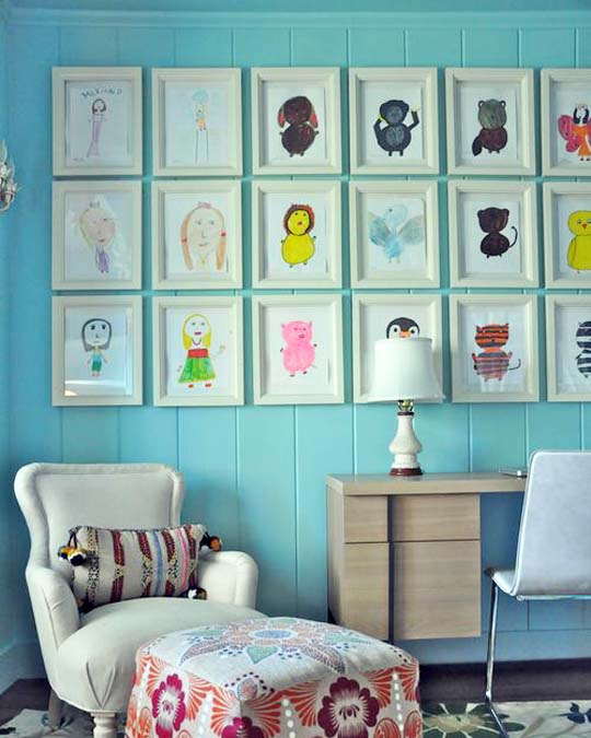 Kids Room Wall Ideas: Eco Ike: Displaying Children's Art Work