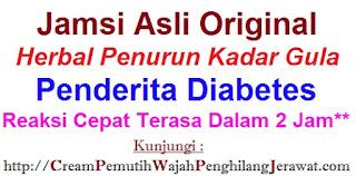 Agen jual obat diabetes JAMSI asli penurun kadar gula CEPAT