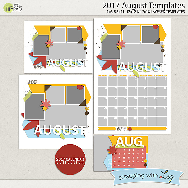 Scrapping with Liz: New Monthly Calendar and Review Templates