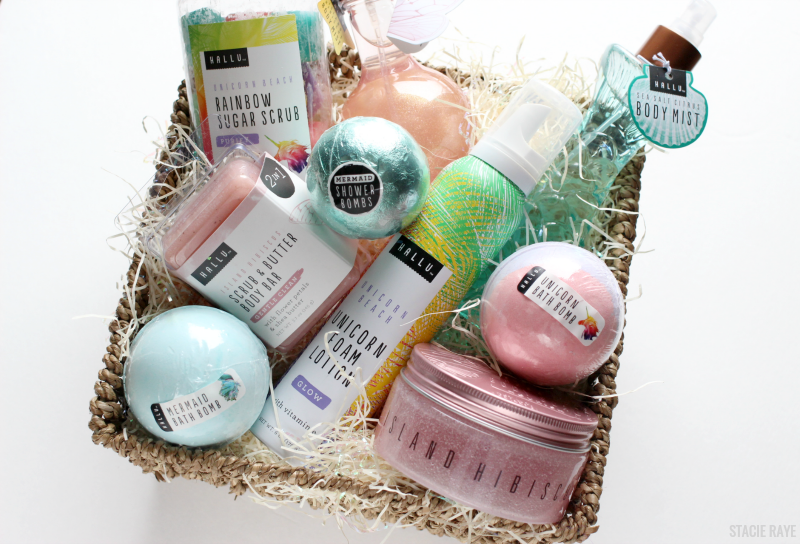 an Easter basket of bath and body products