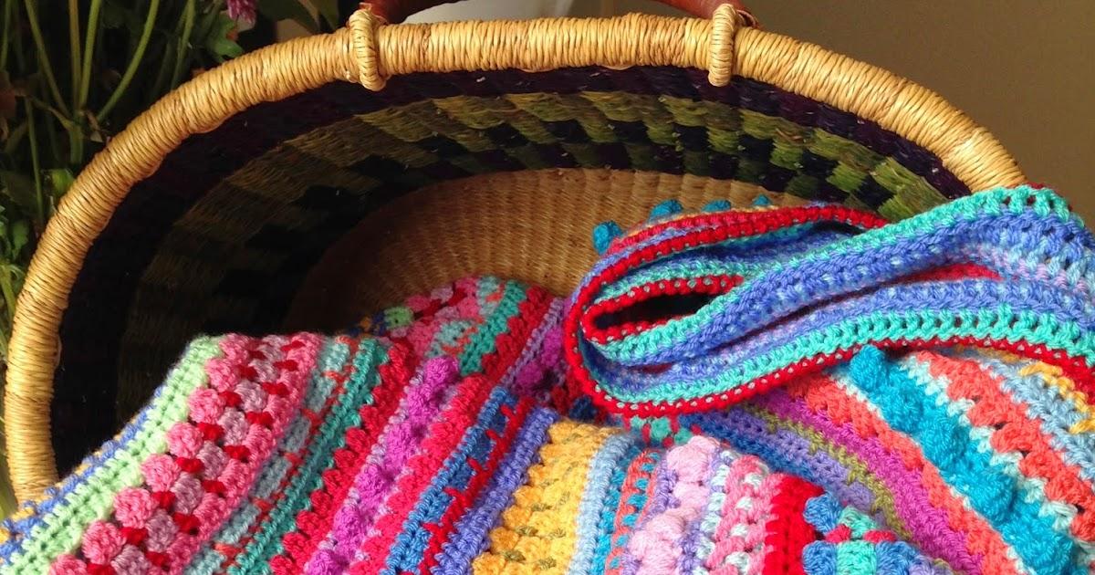 Da S Crochet Connection Multi Stitch Stripe Blanket