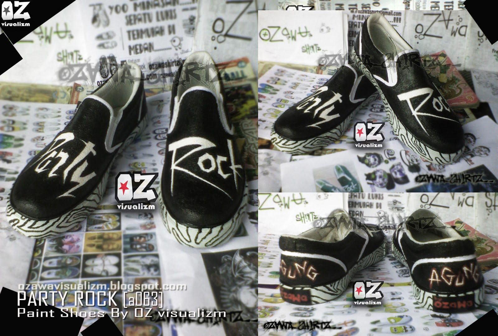 Ozawa Visualizm online shopz  SEPATU LUKIS PARTY ROCK 2e333d2706