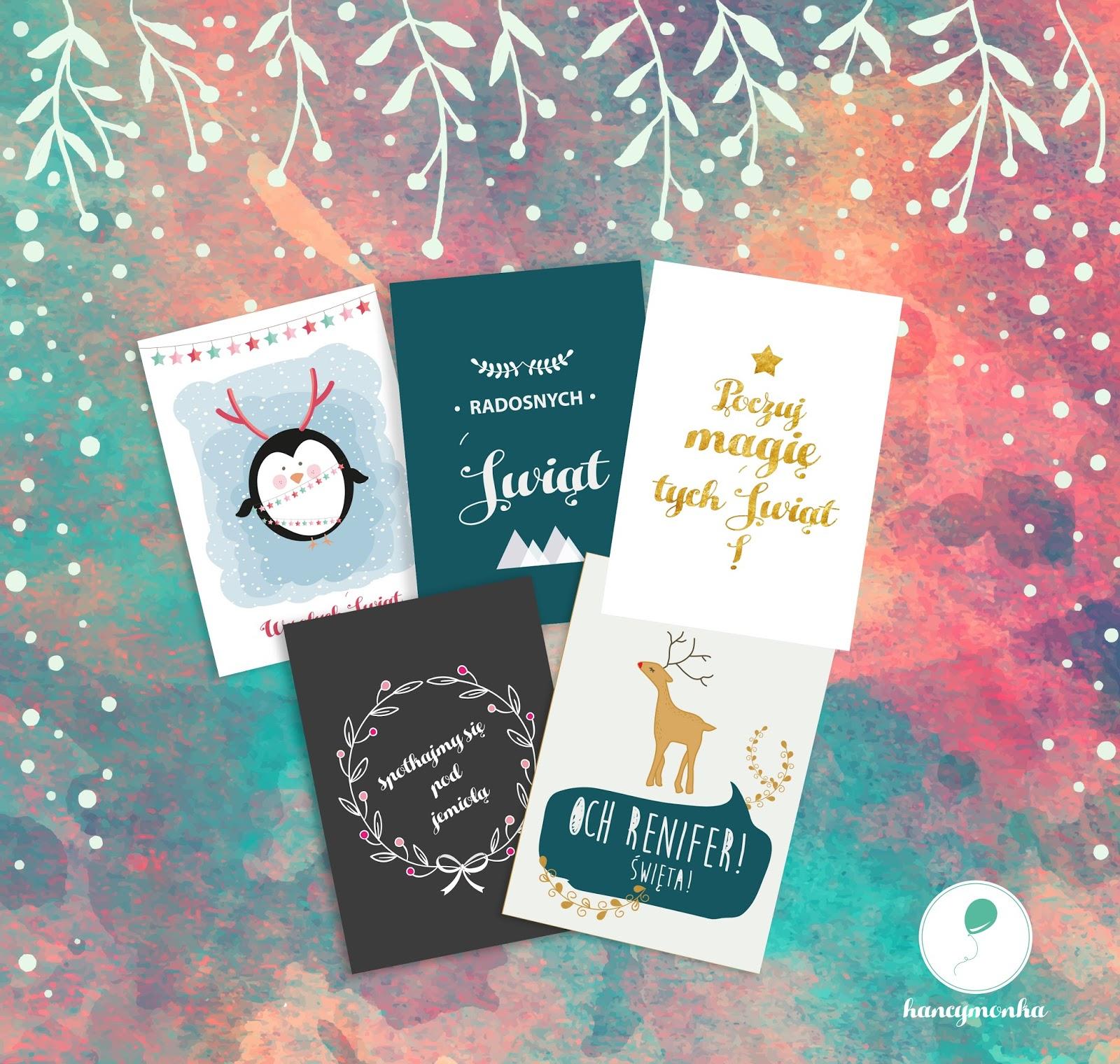 Plakaty świąteczne Darmowe Grafiki Do Druku Hancymonkapl