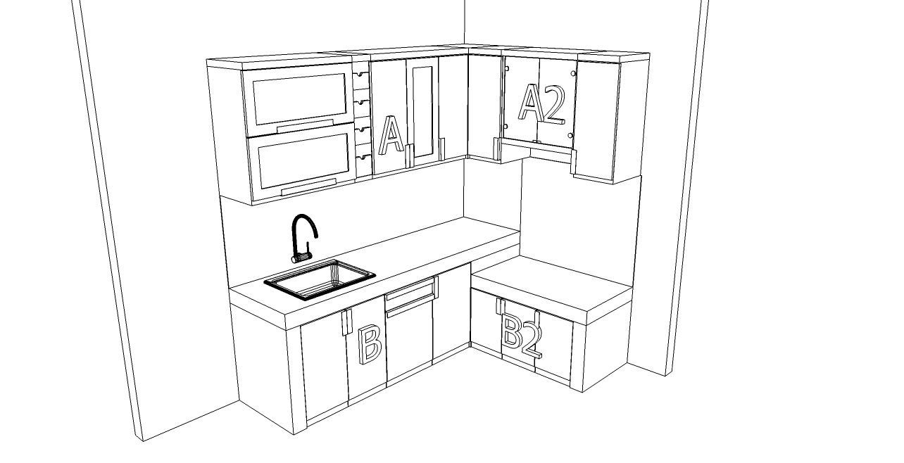 Kitchen Set Bentuk L Warna Pink Pesan Kitchen Set Produksi Cepat