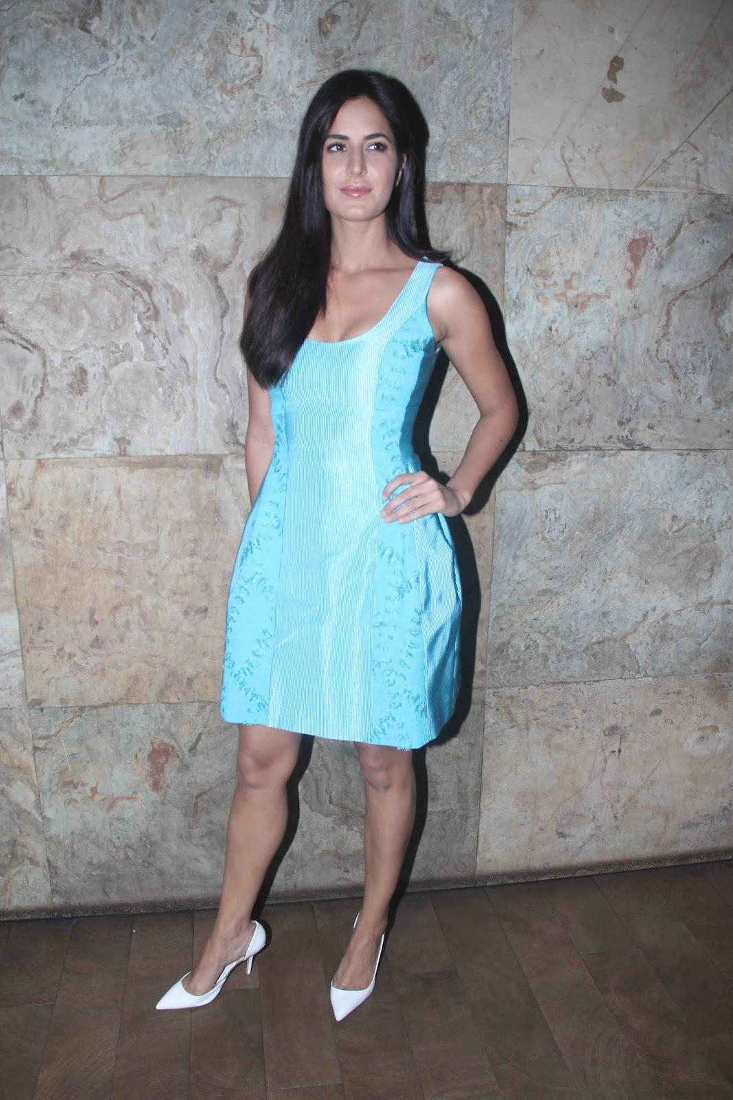 Katrina Kaif Looks Super Sexy In A Blue Short Dress At -3484