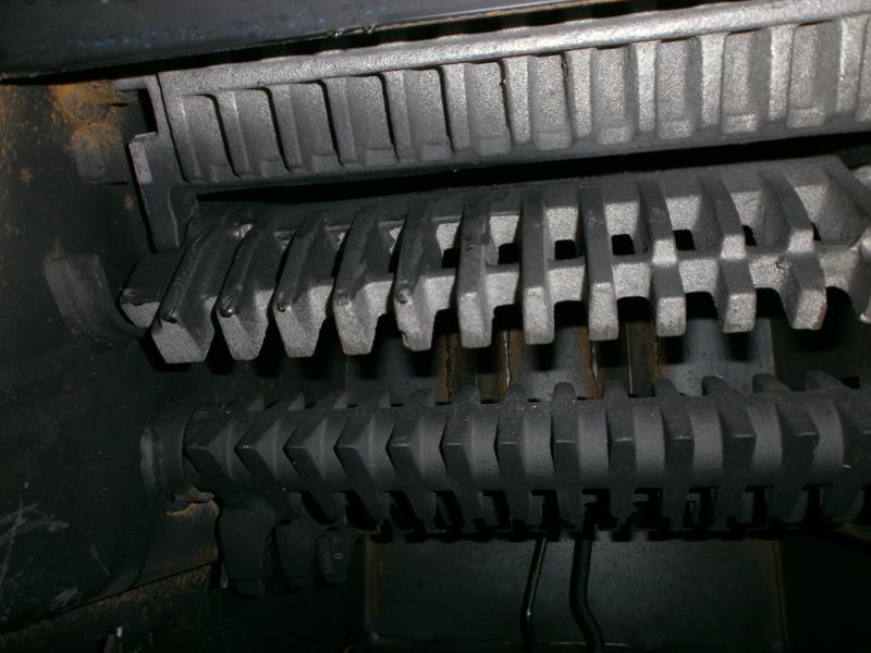 колосники механической топки Bosch. вид спереди
