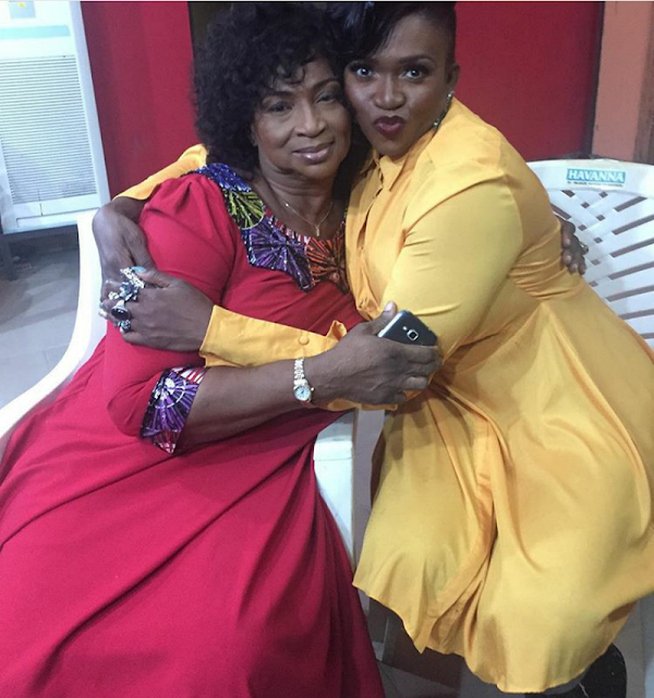 singer waje and her mum