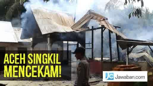 Kerusuhan Pecah di Aceh Singkil, Warga Bakar Gereja