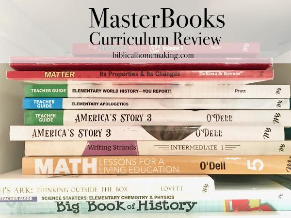 MasterBooks curriculum review + pictures