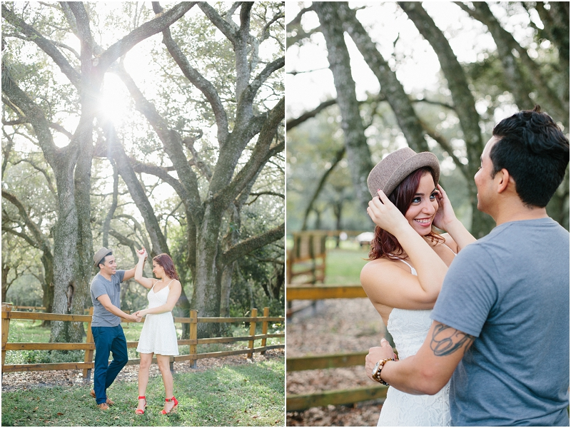 treetops park south Florida engagement photos
