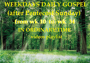 WEEKDAYS DAILY GOSPEL after Pentecost Sunday from WK 10 to WK 34 - IN ORDINARY TIME videos playlist