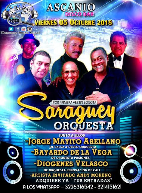 """► Saraguey Orquesta, Jorge Mayito Arellano """"Salsa y Deseo"""", Diogenes Velasco """"Renovación de Cali"""", Bayardo de la Vega y Andy Moreno en Concierto"""