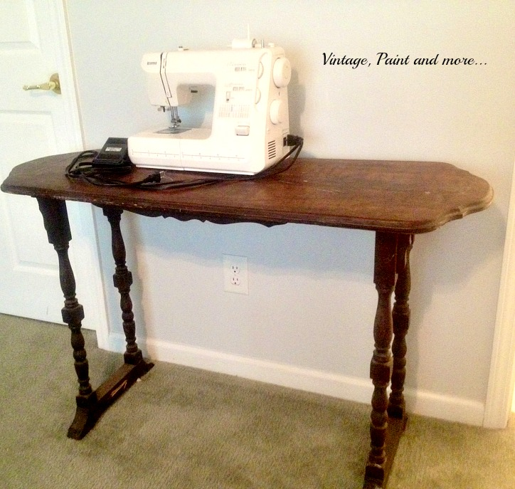 Vintage, Paint and more... thrifted furniture, make a sewing table