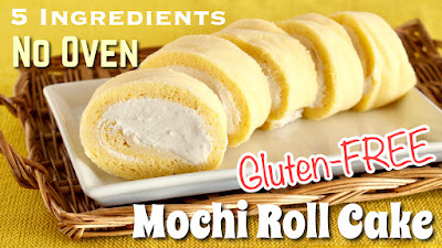 Mochi roll cake no oven dairy free gluten free 5 ingredients friday january 26 2018 forumfinder Images