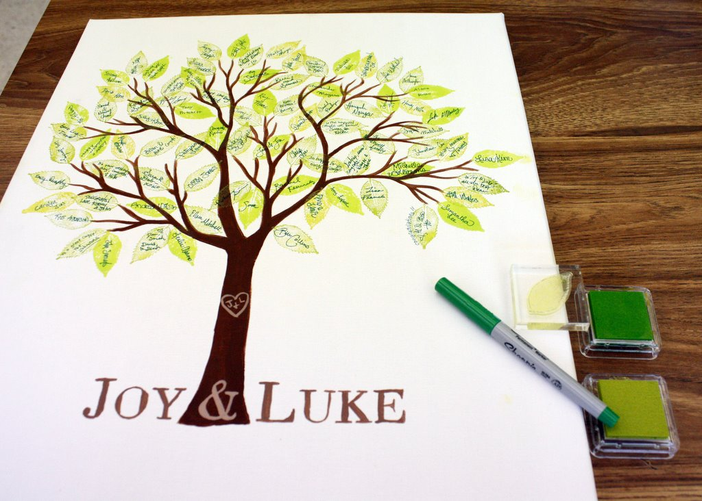 Brand new iDo-It-Myself: DIY Wedding Guest Book - Stamped Tree Collage PP78