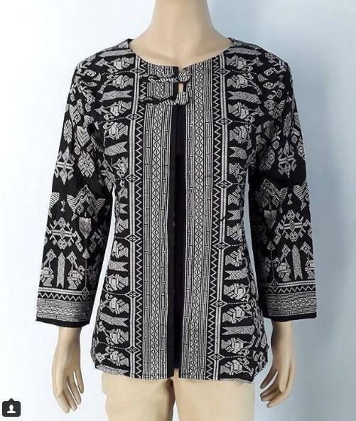 42 Model Baju Seragam Batik Guru Modis Elegan Modern