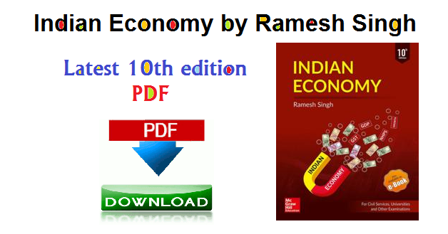 indian economy, indian economy by ramesh singh, Latest 10th edition PDF
