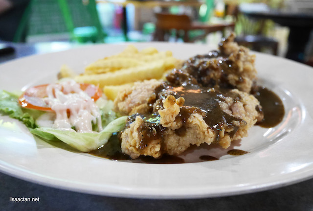 Fried Chicken Chop with Black Pepper Sauce - RM9.90