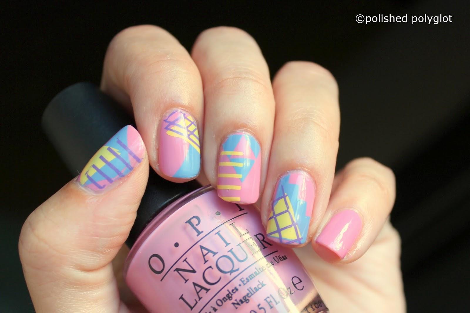 Nail Art Designs For Short Nails Geometric Shapes