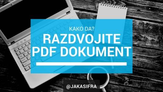 Kako razdvojiti PDF dokument online?