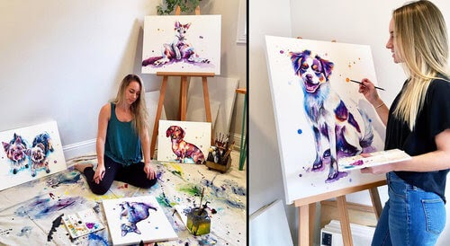 00-Lindsay-Michelle-Colorful-Domestic-and-Wild-Animal-Paintings