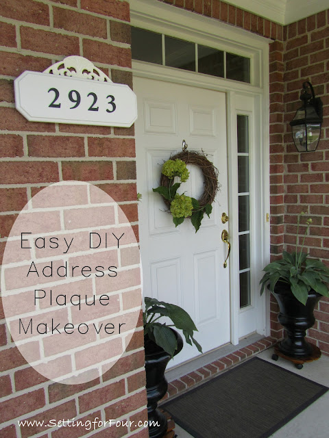 Home Improvement and curb appeal tip: Easy DIY addressplaque makeover tutorial with complete supply list and step by step instructions that you can follow along to make one for your home! It's SUPER IMPORTANT for your house number to be visible from the street for emergency responders!