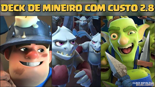 Deck de Mineiro no Clash Royale
