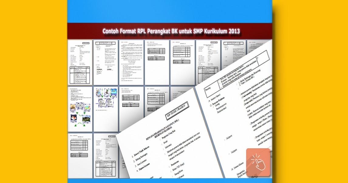Download Contoh Format Rpl Perangkat Bk Untuk Smp