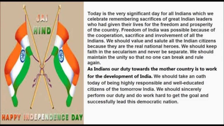 72nd Independence Day 2018 Speech in English for Students