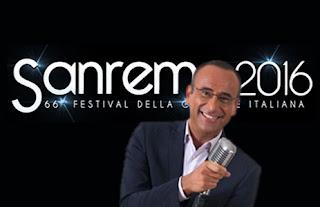 Sanremo 2016 -  Le canzoni vincitrici con musiche e testi