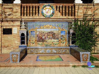 Sevilla - Plaza de España - Banco-azulejo de Jaén