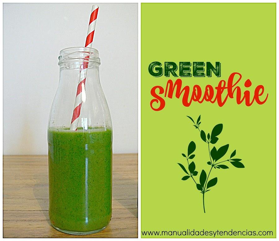 Receta de green smothie o batido verde