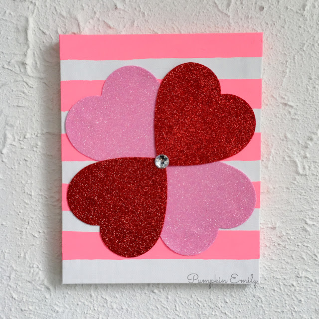 DIY Dollar Store Valentines Day Canvas
