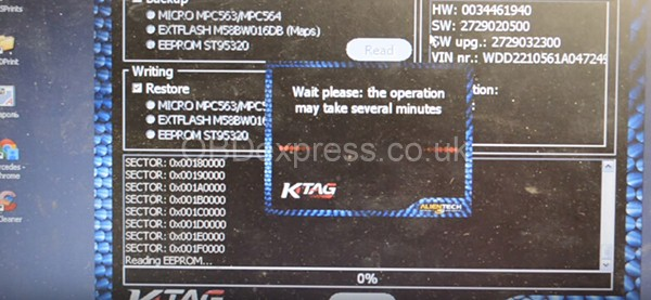 KTAG Reads Bosch ME 9.7 from Mercedes S350 (W221) 2006 16