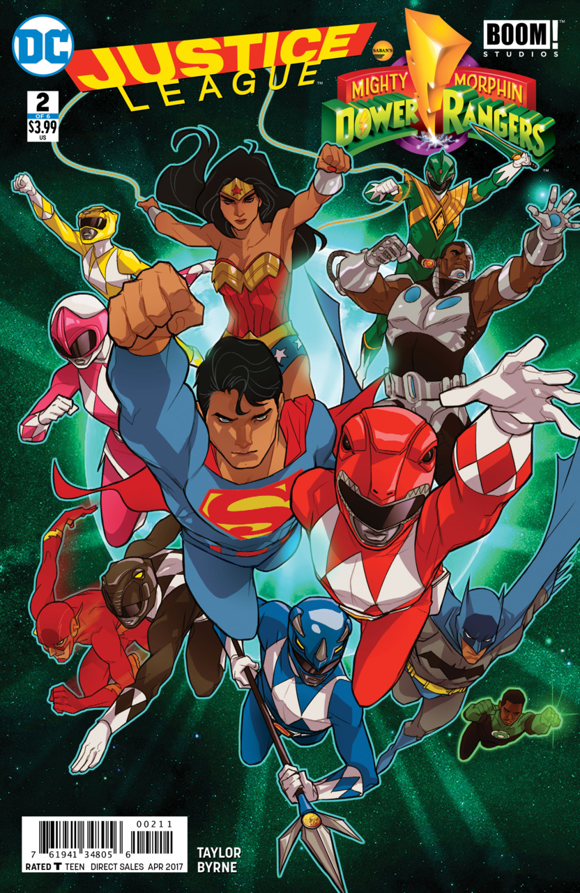 COMIC BOOK FAN AND LOVER: JUSTICE LEAGUE / POWER RANGERS # 2 – DC ...