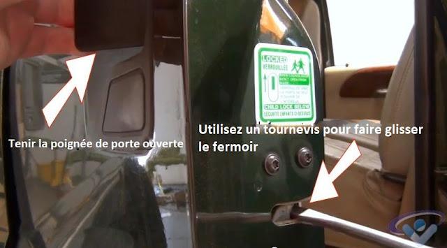 réparer une porte de voiture qui ne ferme pas