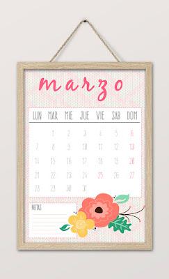 Calendario imprimible marzo