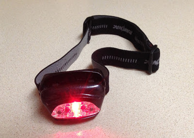 red Rayovac LED head lamp