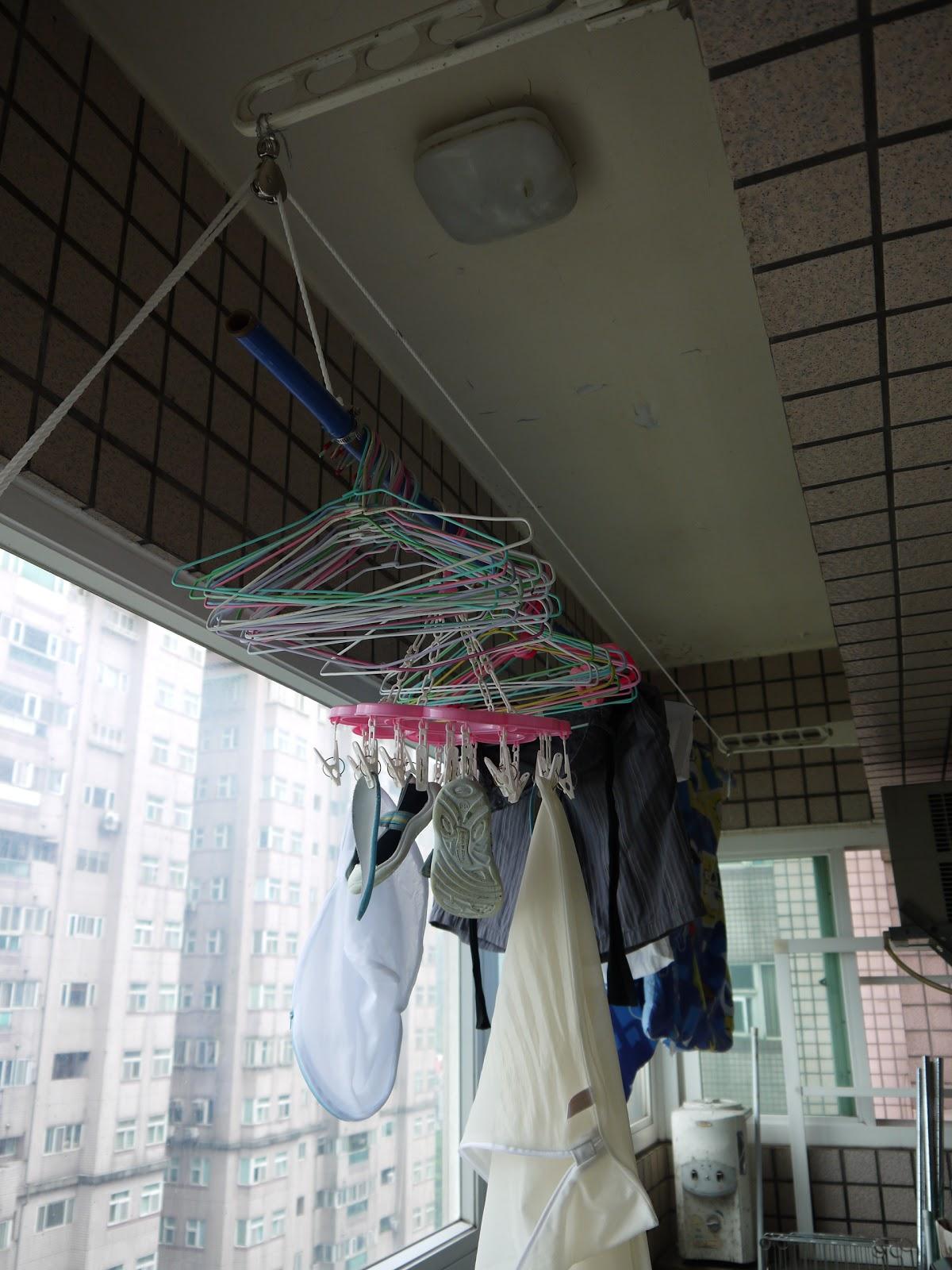 Yachine隨便說說: DIY-手動升降曬衣架