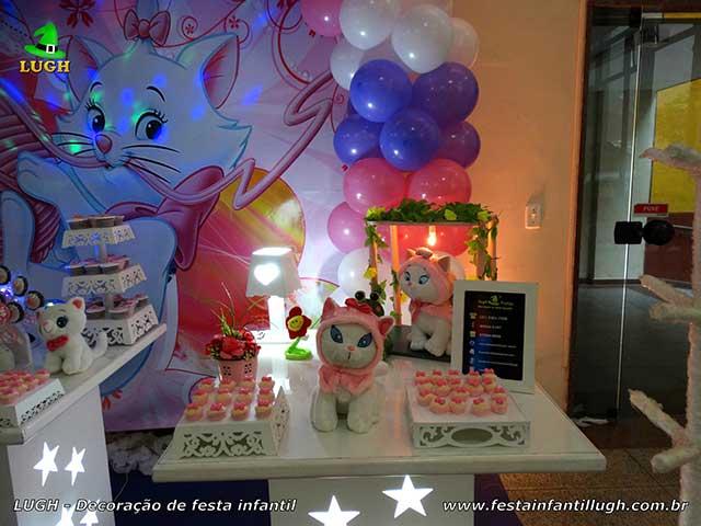 Decoração infantil Gata Marie - festa de aniversário