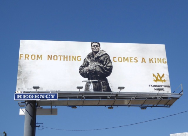 King Arthur Legend of Sword movie billboard