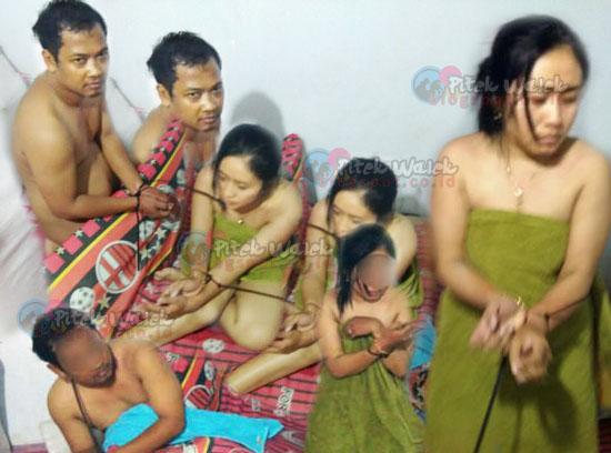 Foto Istri TNI Yang Diikat Dalam Keadaan Bugil Dengan Selingkuhannya di Bojonegoro