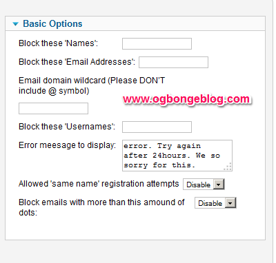 block joomla spam bots