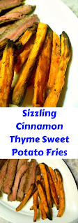 30 minutes to the BADDEST sweet potato fries you've ever had!  Sizzling Cinnamon Thyme Sweet Potato Fries - Slice of Southern