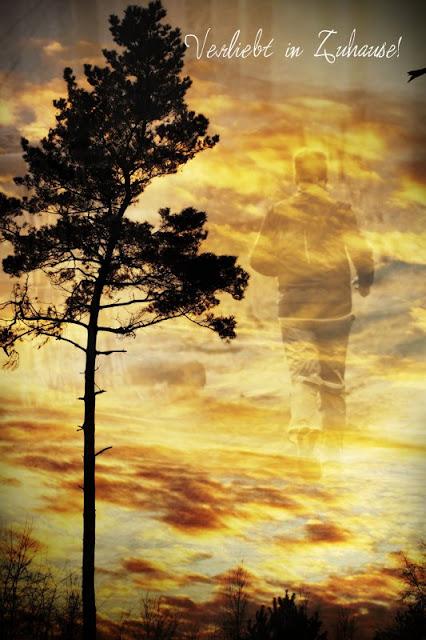 2in1 Fotoprojekt: Doppelbelichtung in Photoscape -Das 2in1 Ergebnis ist der Läufer im Himmel